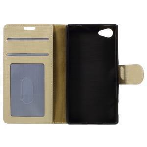 Grid Peňaženkové puzdro pre mobil Sony Xperia Z5 Compact - champagne - 7