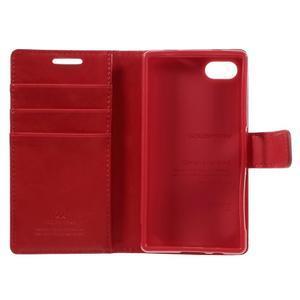 Bluemoon PU kožené puzdro pre Sony Xperia Z5 Compact - červené - 7