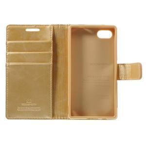Bluemoon PU kožené puzdro pre Sony Xperia Z5 Compact - zlaté - 7