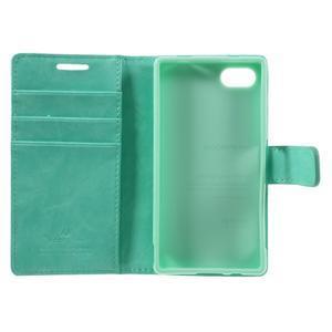 Bluemoon PU kožené puzdro pre Sony Xperia Z5 Compact - cyan - 7