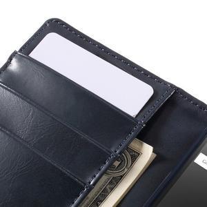 Bluemoon PU kožené pouzdro na Sony Xperia Z5 Compact - tmavěmodré - 7