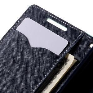 Fancy PU kožené puzdro pre Sony Xperia Z5 Compact - cyan - 7