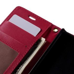 Croco Peňaženkové puzdro pre Sony Xperia Z5 Compact - červené - 7