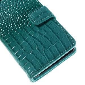 Croco peněženkové pouzdro na Sony Xperia Z5 Compact - modré - 7