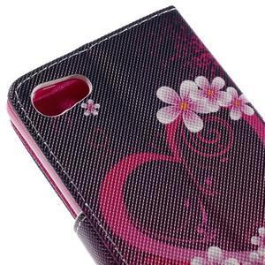 Diary Peňaženkové puzdro pre Sony Xperia Z5 Compact - srdce - 7