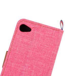 Cloth Peňaženkové puzdro pre mobil Sony Xperia Z5 Compact - ružové - 7