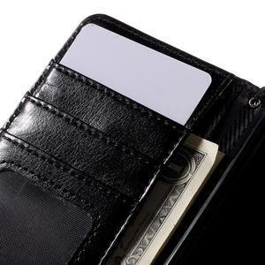 Stylové peněženkové pouzdro na Sony Xperia Z5 Compact - černé/hnědé - 7