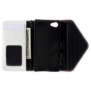 Štýlové Peňaženkové puzdro pre Sony Xperia Z5 Compact - rose - 7