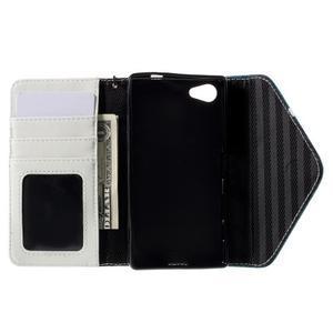 Štýlové Peňaženkové puzdro pre Sony Xperia Z5 Compact - modré - 7