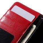 Stylové peněženkové pouzdro na Sony Xperia Z5 Compact - červené - 7/7
