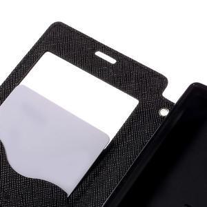 Puzdro s okienkom na Sony Xperia Z5 Compact - čierne - 7