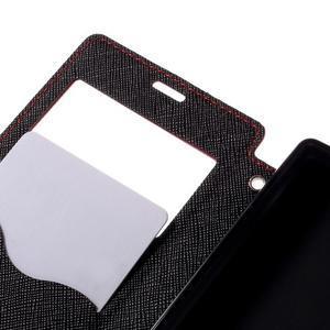 Puzdro s okienkom na Sony Xperia Z5 Compact - červené - 7