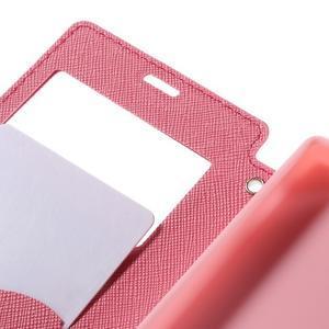 Puzdro s okýnkem na Sony Xperia Z5 Compact - rose - 7