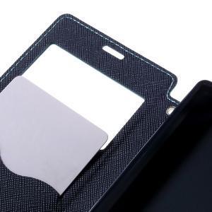 Puzdro s okienkom na Sony Xperia Z5 Compact - svetlomodré - 7
