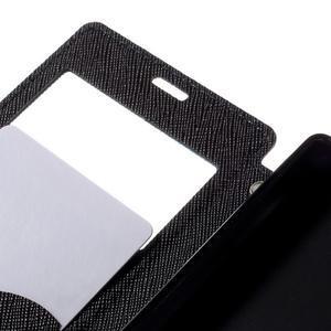 Puzdro s okýnkem na Sony Xperia Z5 Compact - tmavěmodré - 7
