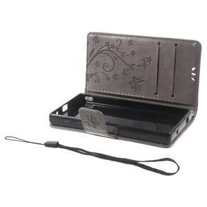 Butterfly Peňaženkové puzdro pre Sony Xperia Z5 Compact - sivé - 7