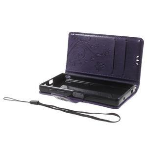 Butterfly peněženkové pouzdro na Sony Xperia Z5 Compact - fialové - 7