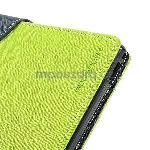 Peňaženkové PU kožené puzdro pre Sony Z Ultra - zelené - 7