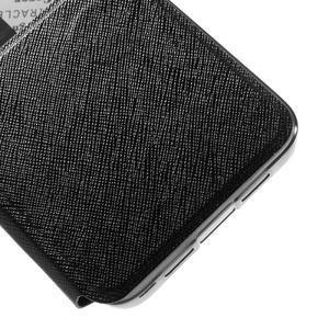 Cross peněženkové pouzdro s oknem na Xiaomi Mi5 - černé - 7