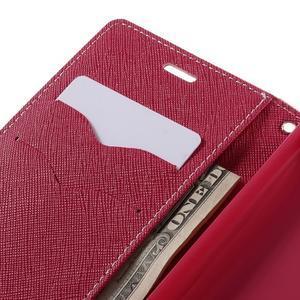 Diary PU kožené pouzdro na mobil Xiaomi Redmi 3 - růžové - 7