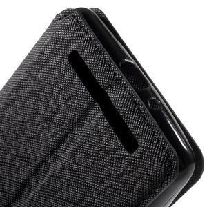 Diary view peňaženkové puzdro pre Xiaomi Redmi 3 - čierne - 7