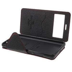 Diary view peňaženkové puzdro pre Xiaomi Redmi 3 - červené - 7