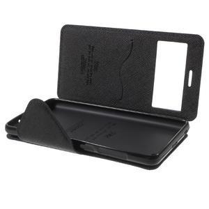 Diary view peňaženkové puzdro pre Xiaomi Redmi 3 - tmavomodré - 7