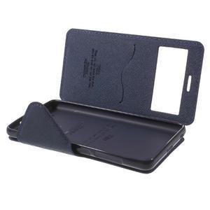 Diary view peněženkové pouzdro na Xiaomi Redmi 3 - fialové - 7