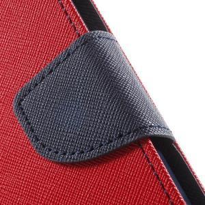 Goos PU kožené pouzdro na Xiaomi Redmi Note 2 - červené - 7
