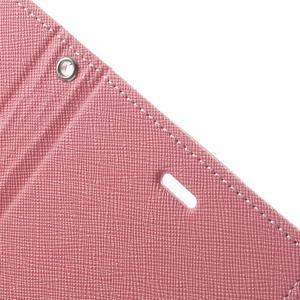 Goos PU kožené pouzdro na Xiaomi Redmi Note 2 - růžové - 7