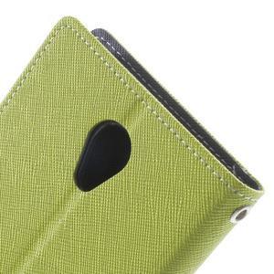 Goos PU kožené puzdro pre Xiaomi Redmi Note 2 - zelené - 7
