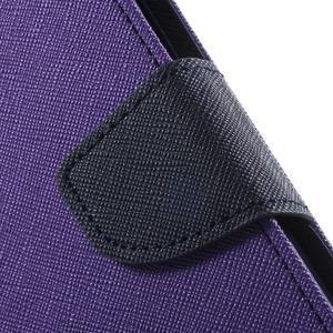 Goos PU kožené puzdro pre Xiaomi Redmi Note 2 - fialové - 7