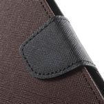 Goos PU kožené pouzdro na Xiaomi Redmi Note 2 - hnědé - 7/7