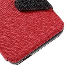 Diary pouzdro s okýnkem na mobil Xiaomi Redmi Note 3  - červené - 7