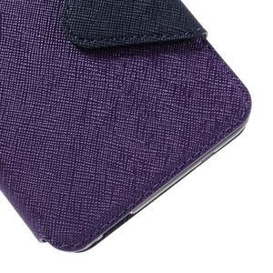Diary pouzdro s okýnkem na mobil Xiaomi Redmi Note 3  - fialové - 7