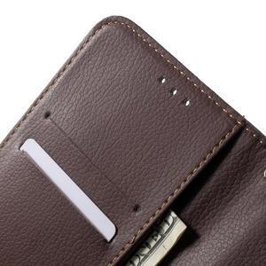 Leaf peněženkové pouzdro na Xiaomi Redmi Note 3 - hnědé - 7