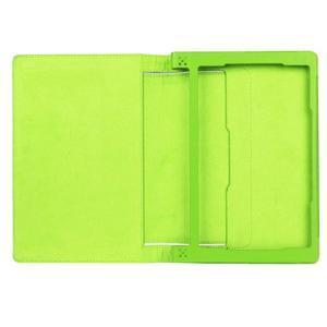 Safe PU kožené puzdro pre tablet Lenovo Yoga Tab 3 8.0 - zelené - 7