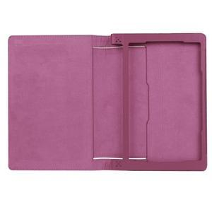 Safe PU kožené pouzdro na tablet Lenovo Yoga Tab 3 8.0 - fialové - 7