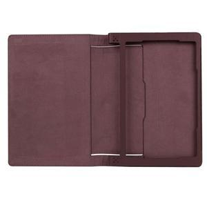 Safe PU kožené pouzdro na tablet Lenovo Yoga Tab 3 8.0 - hnědé - 7