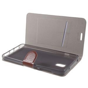 Horse peňaženkové puzdro pre Lenovo Vibe P1 - hnedé - 7