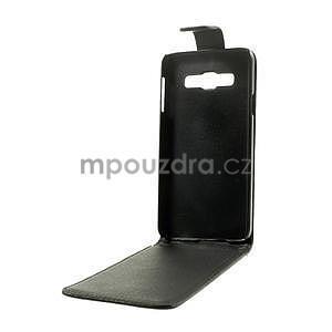 Kožené flipové puzdro pre Samsung Galaxy A3 - čierné - 7