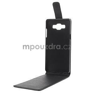 Kožené flipové puzdro pre Samsung Galaxy A5 - čierné - 7