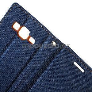 Štýlové textilné/PU kožené puzdro pre Samsung Galaxy Core Prime - jeans - 7