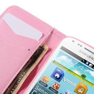 Peňaženkové puzdro pre Samsung Galaxy S Duos / Trend Plus - vtáčik v klietke - 7