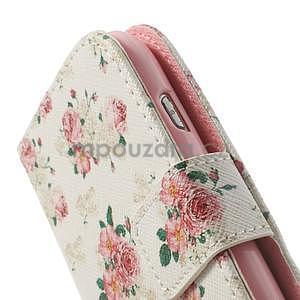 Peňaženkové puzdro na Samsung Galaxy S3 mini - kvety - 7
