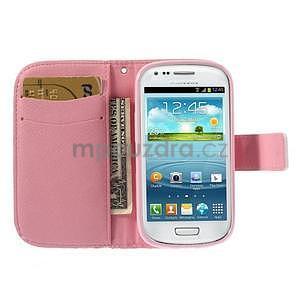 Peňaženkové puzdro pre Samsung Galaxy S3 mini - srdca - 7