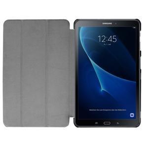 Trifold polohovatelné puzdro na Samsung Galaxy Tab A 10.1 (2016) - hnědé - 7