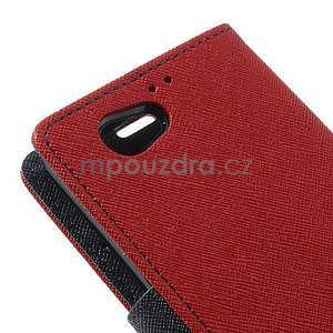 Fancy peňaženkové puzdro pre Sony Xperia Z1 Compact - červené - 7