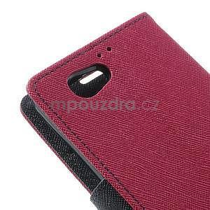 Fancy peňaženkové puzdro pre Sony Xperia Z1 Compact - rose - 7