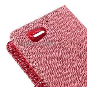 Fancy peňaženkové puzdro pre Sony Xperia Z1 Compact - ružové - 7